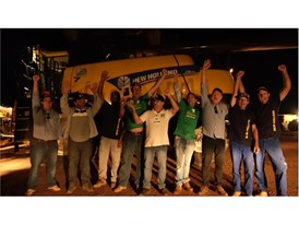 New Holland team celebrate achieving World Record Title for Most Soybeans Harvested within Eight Hours