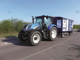 New Holland tractors on 5000 mile Blue Force Coastline Tractor Challenge