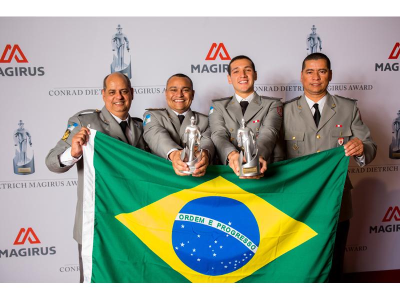 The Rio de Janiero Fire Deparment winners of the 2014 Conrad Dietrich Magirus Award