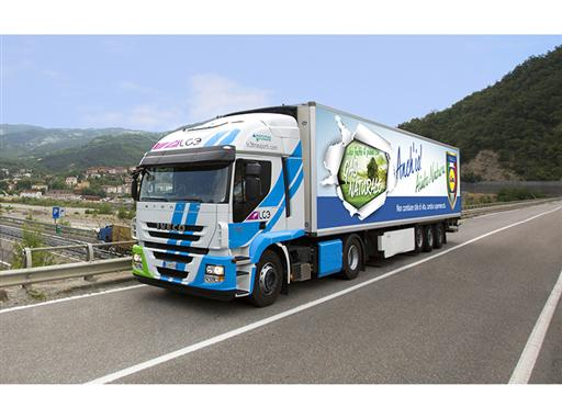 One of 15 Iveco Stralis Natural Power to be used by supermarket chain Lidl in Italy