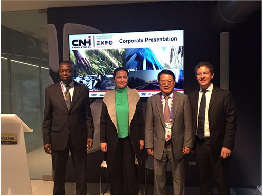 From left to right Celestin Monga, Diana Battaggia, Li Yong, Michele Ziosi