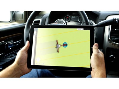 The portable tablet interface can be used for remote machine monitoring and control, wherever the user is