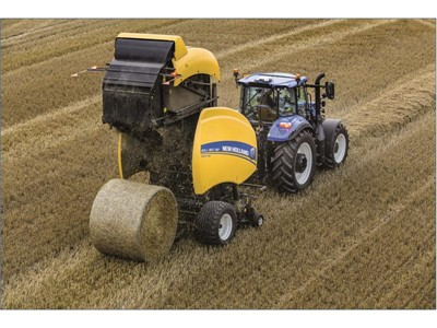 The IntelliBale™ system automates the tractor and baling control functions