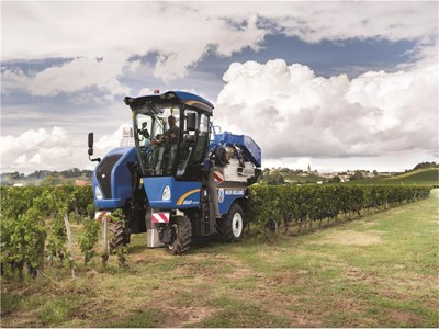 New Holland Agriculture Manufactures its 15,000th BRAUD Grape & Olive Harvester