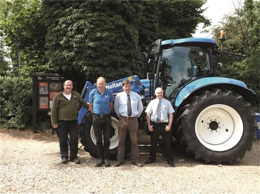 New Holland delivers a T6.140 tractor to RSPB