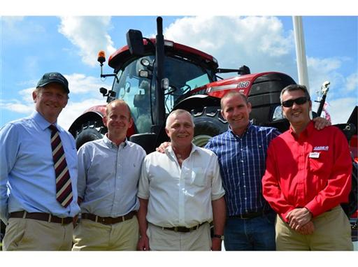 The winner of the charity auction of the Case IH Puma at Cereals 2014