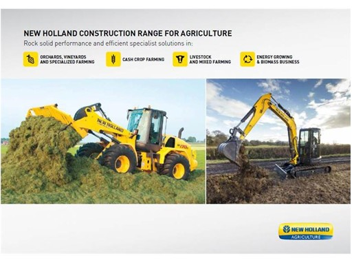 New Holland Construction range for agriculture
