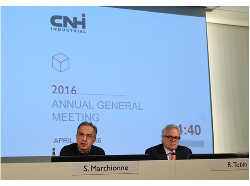 CNH Industrial AGM 2016 Chairman Sergio Marchionne (left) and CEO Richard Tobin (right)