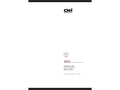 CNH Industrial Annual Report 2015