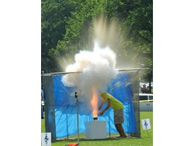Fireworks Aerial Device Demonstration