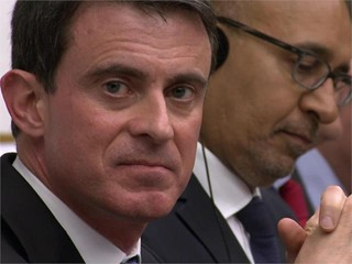 French Prime Minister Manuel Valls visiting the S&D Group in the European Parliament