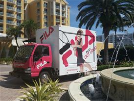 FILA Brings Mobile Gaming Tennis Truck to the Streets of Miami