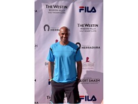Boris Kodjoe Wears FILA at the 12th Annual Desert Smash Charity Celebrity Tennis Event