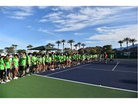 FILA Hosts Junior Tennis Clinic with Sam Querrey at Indian Wells Tennis Garden