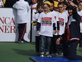 Kids at the Un Campione per Amico event in Rome