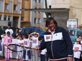 Adriano Panatta at the Un Campione per Amico event in Rome