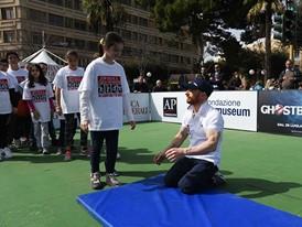 Young athletes at the Un Campione per Amico event in Rome