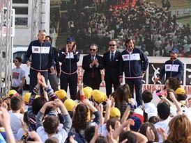 Champions at the Un Campione per Amico event in Rome