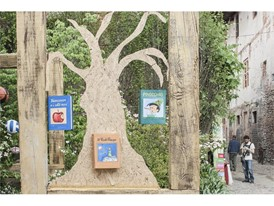 Children's book tree at the Reading and Sporting Festival