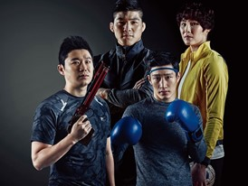 FILA Korea's sponsored athletes appear in Olympic edition of Men's Health magazine