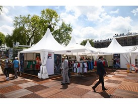 Exterior view of FILA Germany's booth at the Mercedes Cup