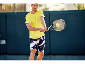 Andreas Seppi sports the FILA men's Hurricane collection