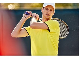 FILA athlete Andreas Seppi sports the men's Hurricane collection