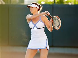 FILA athlete Yaroslava Shvedova sports the FILA women's Platinum dress