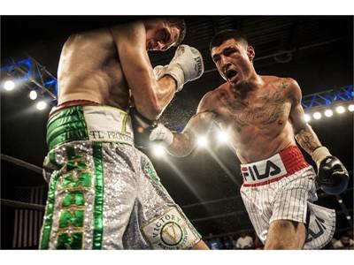 FILA Sponsored Boxer Dusty Hernandez-Harrison Wins USBA Welterweight Title