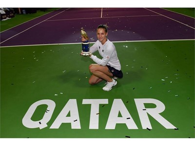 FILA's Karolina Pliskova Wins Second Title of the Year at the Qatar Open