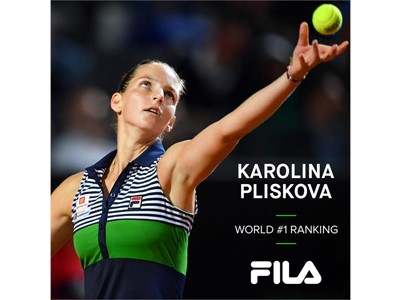FILA Tennis Athlete Karolina Pliskova Becomes New WTA Tour World #1