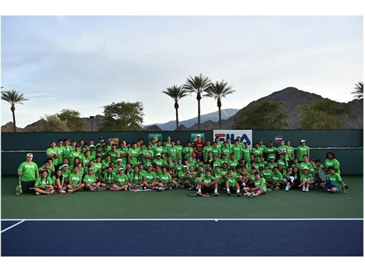 FILA Hosts Junior Tennis Clinic with Sam Querrey at Indian Wells Tennis Garden