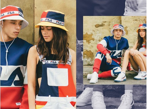 Images from FILA UK's men's and women's Black Line collection