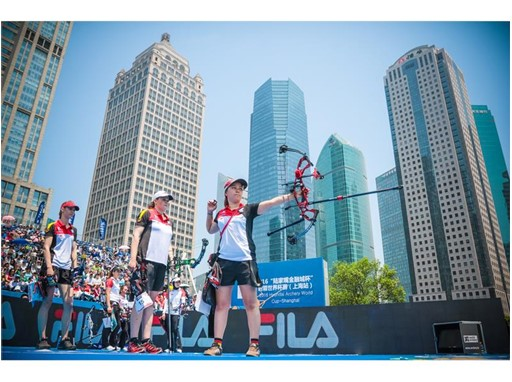 Athletes at the 2016 World Archery Championship in Shanghai