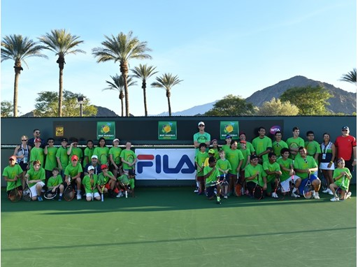 FILA Hosts Junior Tennis Clinic with Sam Querrey at the BNP Paribas Open
