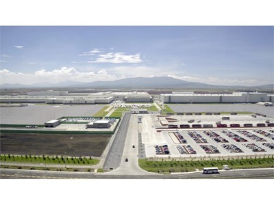 Audi Mexico Plant aerial view