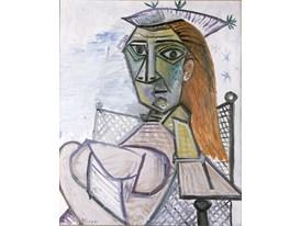 Picasso-Femme assise dans un fauteil o