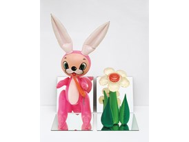 Koons Inflatable flower & bunny