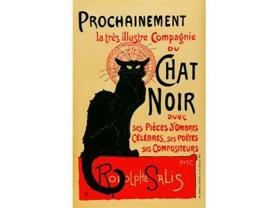 Steinlen - Prochainement la tres illustre Compagnie du Chat Noir 1896
