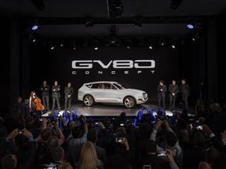 Genesis Reveals GV80 Fuel Cell Concept SUV At New York International Auto Show