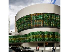 Fabric Garden made by recycled plastic bottles can be used as green construction material