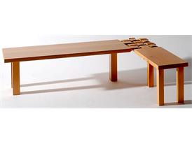 Woven bench awarded by the Taiwan Craft Award