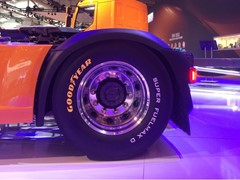 Goodyear A Grade Low Rolling Resistance Truck Tires at IAA - New prototype tires on fuel efficient DAF truck