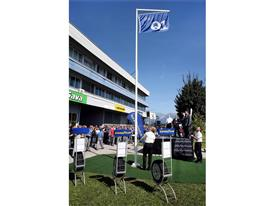 Goodyear Dunlop Sava Tires celebrate installation of Ford Q1 flag at their site
