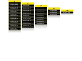 Dunlop UHP Size chart