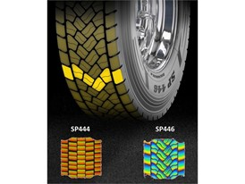 Dunlop SP446 Directional Tread Pattern High Mileage