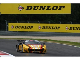 Long-time Dunlop customer, JMW lead the GTE class with their Ferrari 458 Italia