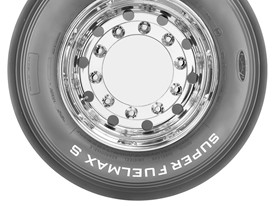 Goodyear SUPER FUELMAX S sidewall steer tire in size 385/55R22.5