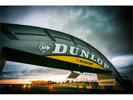 The iconic Dunlop Bridge at Le Mans