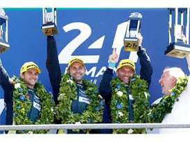 Aston Martin Racing on the Le Mans 24 Hours LM GTE Pro podium top step